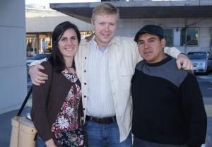A picture of me, Emily & Pastor Jorge.