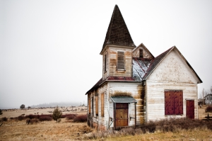 abandoned rural church