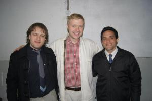 Here pictured with me is Pastor Matias Aguilera on the right, and one of the members of La Gracia Carlos Lorenzoni.