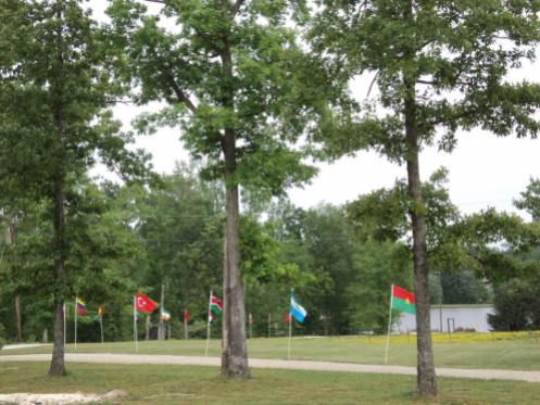 Some flags of the countries represented at Camp this year.